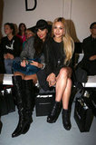Jameela Jamil and Zara Martin both wore black boots at Zoe Jordan.