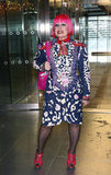 Zandra Rhodes was wacky as ever for Matthew Williamson.