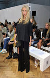 Poppy Delevingne was in statement lipstick at Sass & Bide.