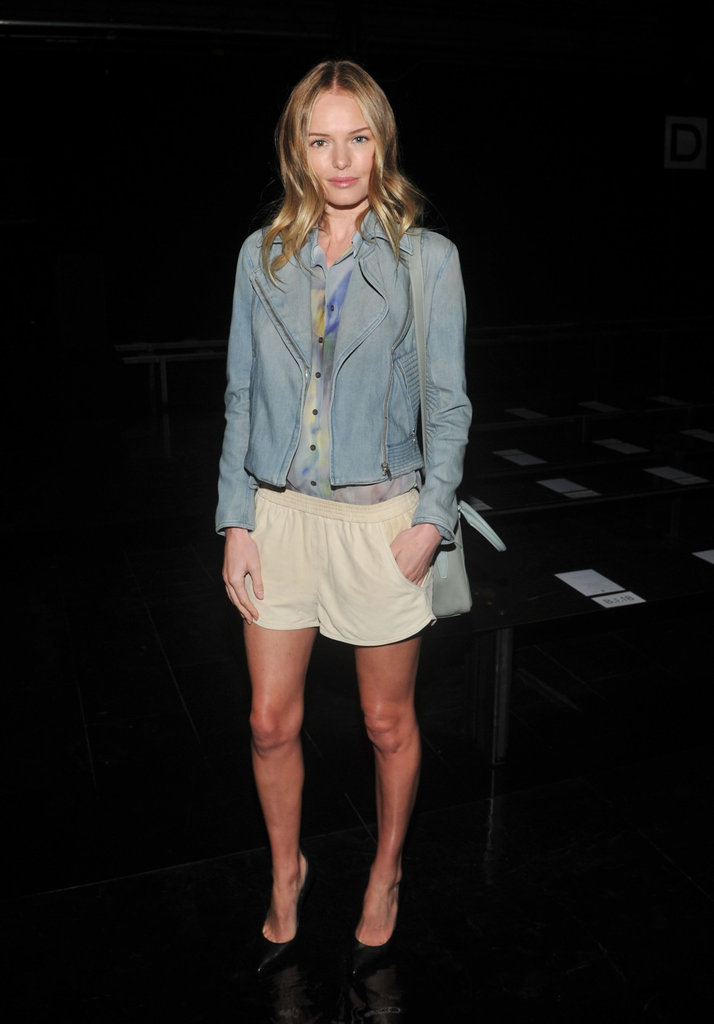 Kate Bosworth showed off her figure in shorts.