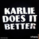 Karlie Kloss found it funny when she tracked down someone wearing this motto on a t-shirt for FNO. Source:  karliekloss on Who Say