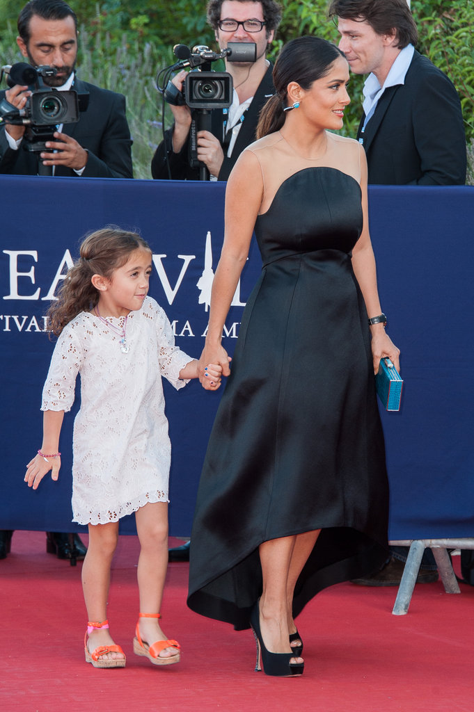 Salma Hayek was accompanied by daughter Valentina on the red carpet at the closing ceremony of the Deauville Film Festival in France.