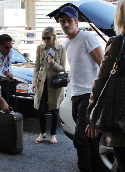 Kirsten Dunst and Garrett Hedlund caught a flight in Toronto.