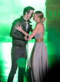 Ryan Reynolds and Blake Lively got close at the Scream Awards in October 2010.