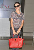Miranda Kerr arrived in Japan.