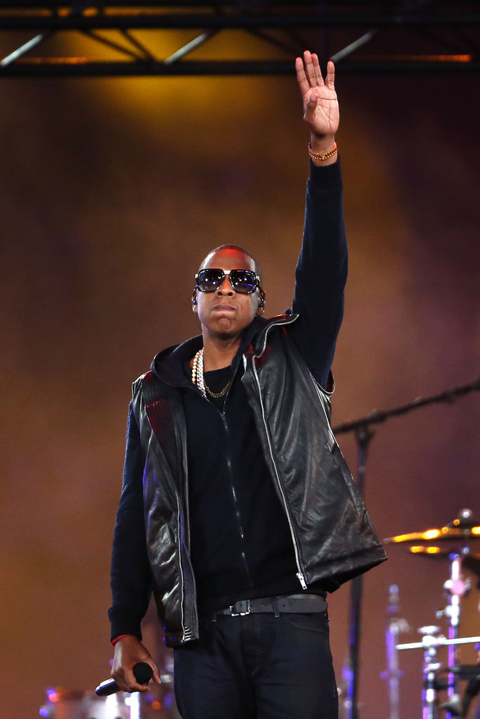 Jay-Z wore sunglasses during his performance at the Paralympics.