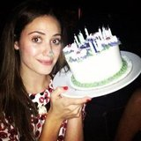 Emmy Rossum celebrated her birthday dinner with friends. Source: Instagram user emmyrossum