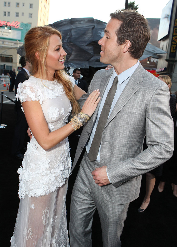 Blake Lively and Ryan Reynolds joked around at the Green Lantern LA premiere in June 2011.