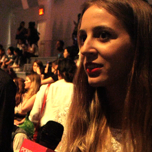 Harley Viera-Newton Fashion Week Interview (Video)