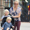 Naomi Watts Wearing Tie Dye T-Shirt