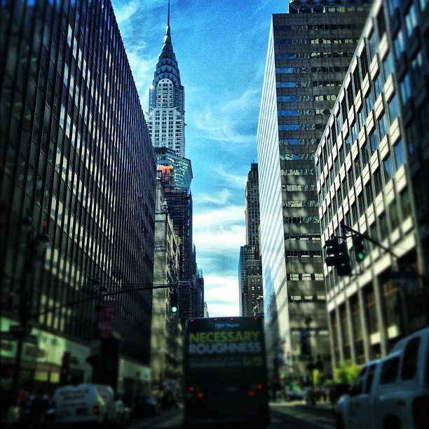 Nicole Richie tweeted a picture of the NYC streets during NYFW. Source: Instagram user nicolerichie