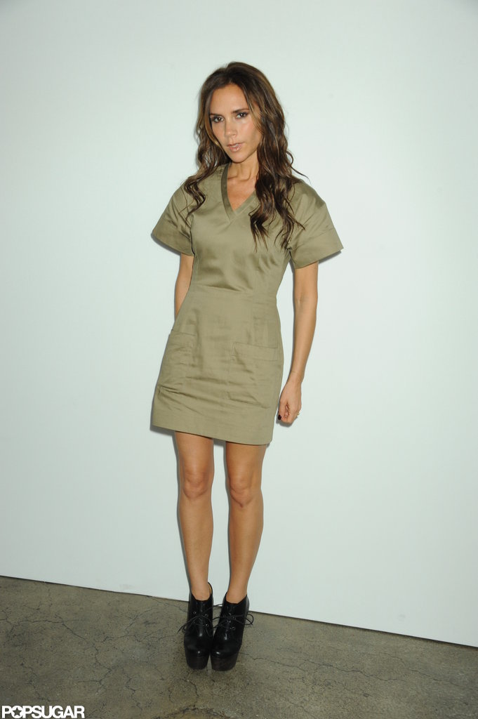 Victoria Beckham was at Fashion Week.