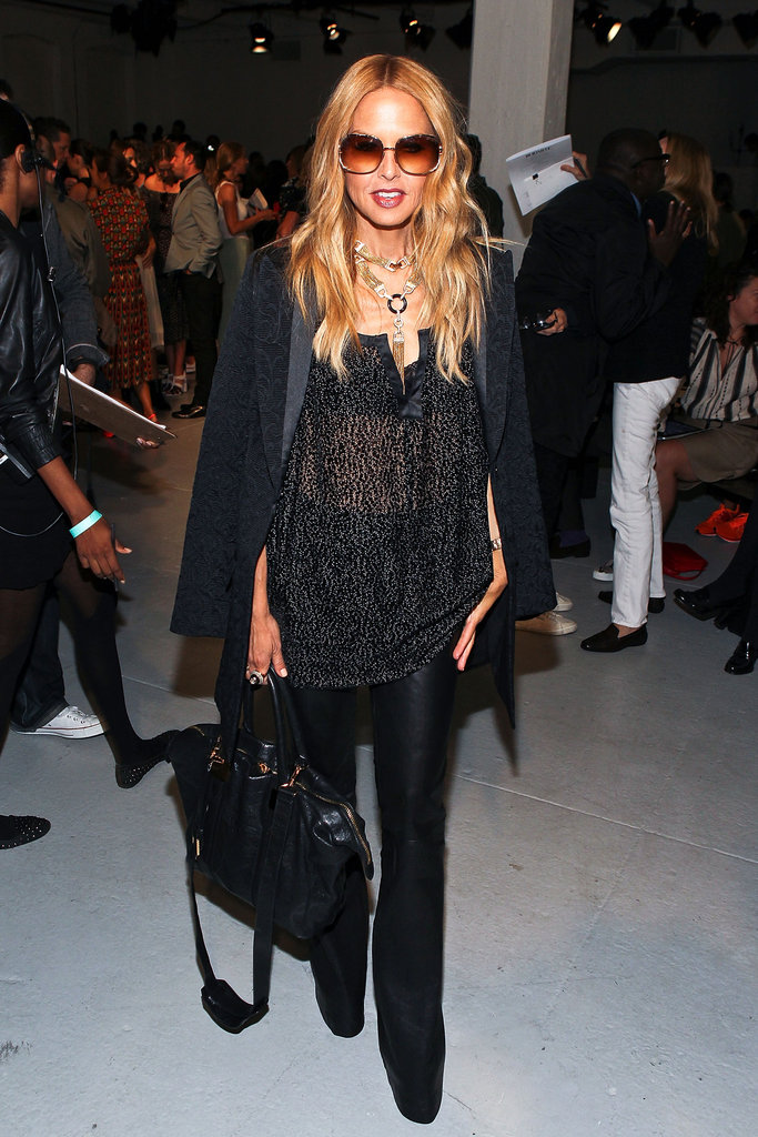 Rachel Zoe arrived in an all-black ensemble.