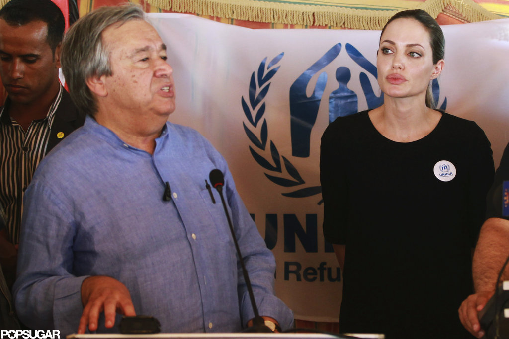 Angelina Jolie spoke at the Al Zaatari refugee camp.