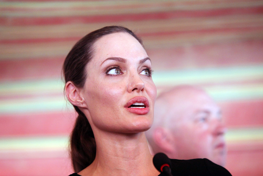Angelina Jolie spoke at the Al Zaatari refugee camp in Jordan.