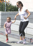 Jennifer Garner and Seraphina Affleck walked hand in hand.