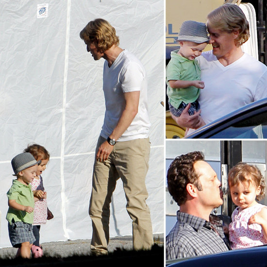 Owen Wilson With Son Robert Ford On Set Pictures