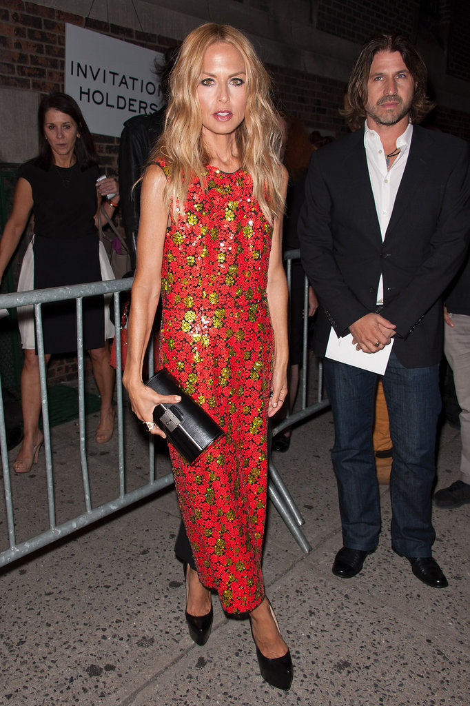 Rachel Zoe looked retro-perfect in one of Marc Jacobs's bright Resort '13 dresses.