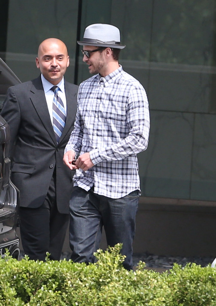 Justin Timberlake and one of his reps chatted.