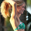Doutzen Kroes in a Bikini at Victoria's Secret Shoot