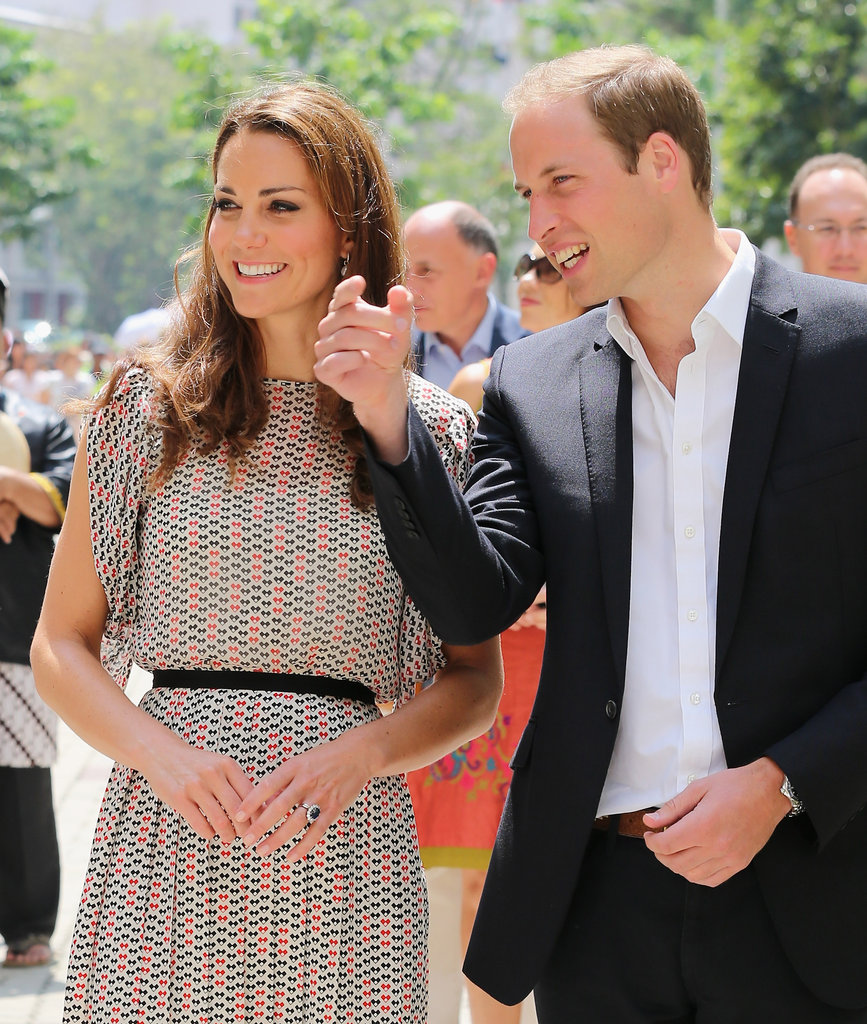 Prince William shared a funny moment with his wife as they enjoyed a cultural event in Singapore on day two of their tour.