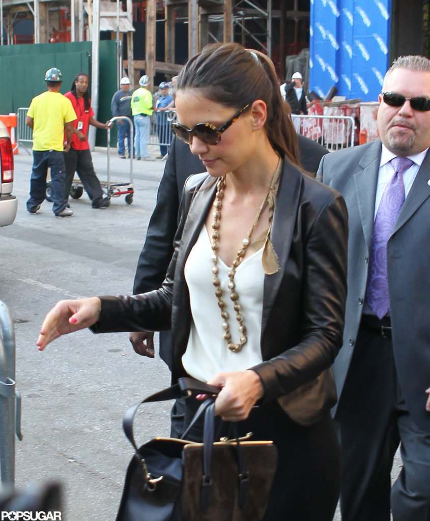 Katie Holmes went to Lincoln Center.