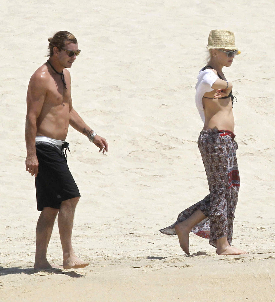 Gwen Stefani and Gavin Rossdale enjoyed the beach in Cabo in April 2012.