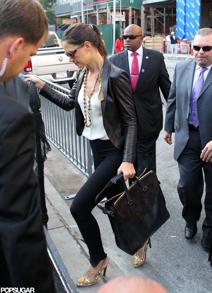 Katie Holmes was out in NYC for NYFW.