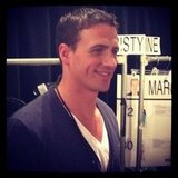 Ryan Lochte checked out the action backstage at Milly. Source: Instagram user instylemagazine