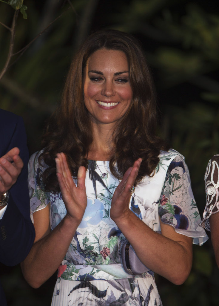 Kate Middleton wore an Erdem dress.