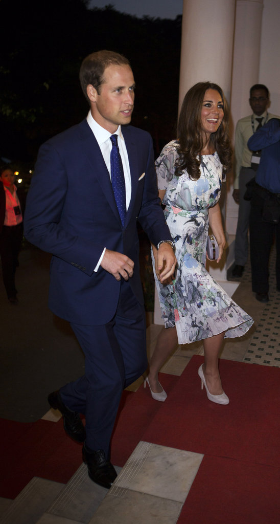 Kate Middleton and Prince William arrived at a dinner party in Singapore.