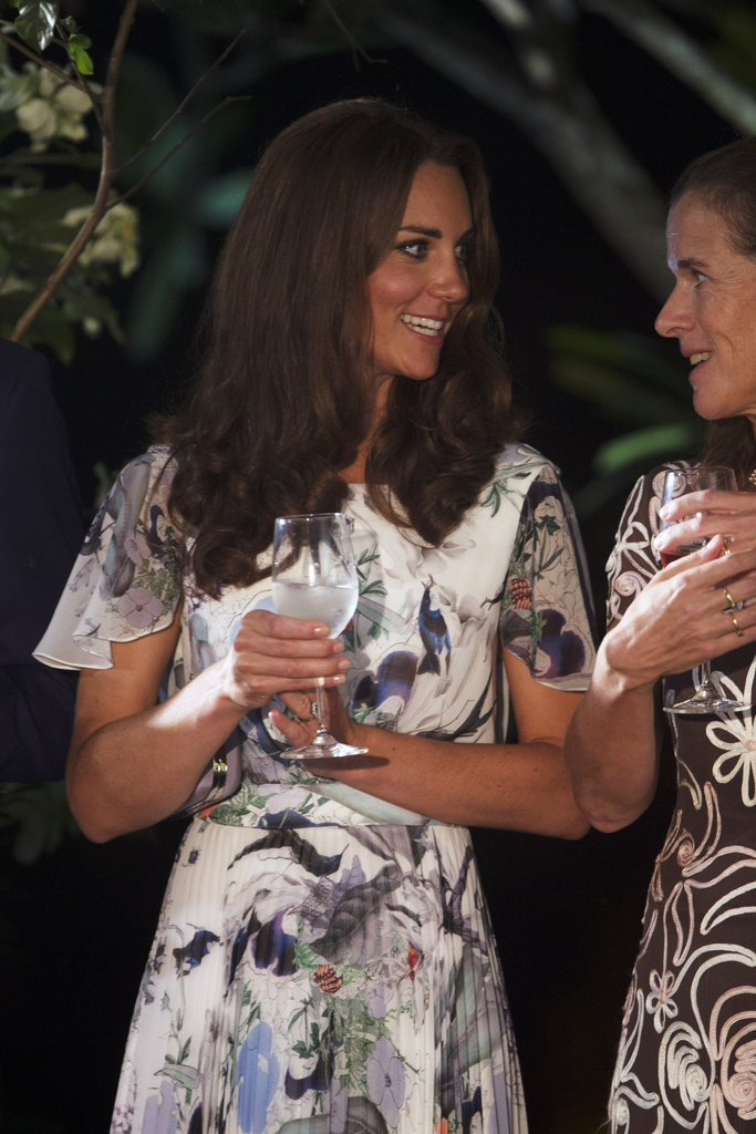 Kate Middleton toasted with water.
