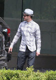 Justin Timberlake headed back to his car after a meeting.