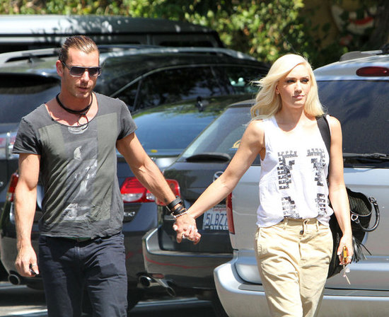 Gwen Stefani and Gavin Rossdale Head to the Studio Hand in Hand