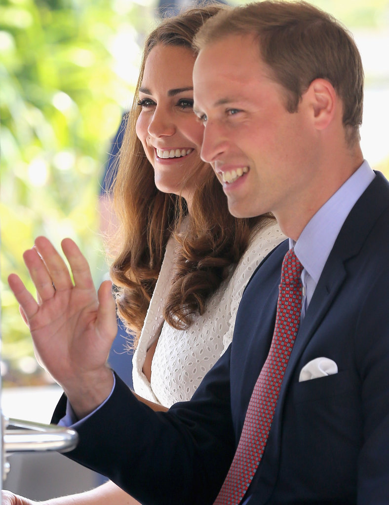 Prince William gave a wave with Kate Middleton.