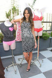 Jordana Brewster went with a body-con shift to hang with Victoria's Secret during NYFW.