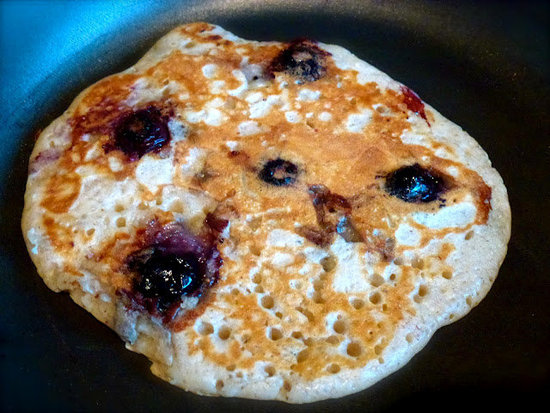 Cinnamon & Blueberry Pancakes by ZestyBaking