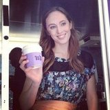 Beauty Director Annie served BellaSugar readers hot coffee, care of Urban Decay.
