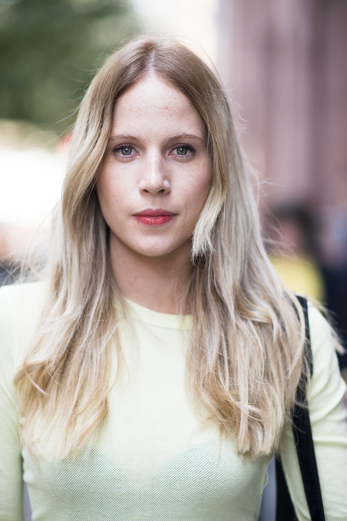 Lipstick that looks looks a little lived-in is perfect for casualwear. Photo by Le 21ème | Adam Katz Sinding