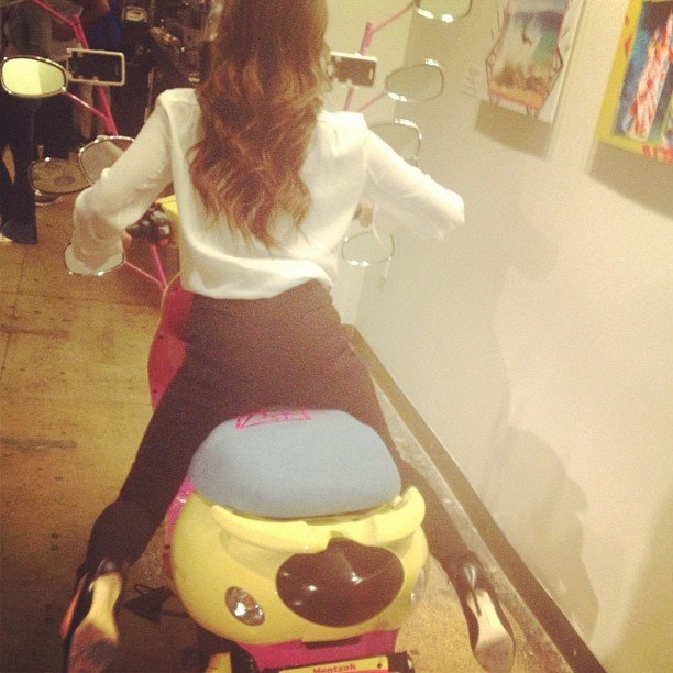 Victoria Beckham joked that she was headed home on a scooter after her show. Source: Instagram user victoriabeckham