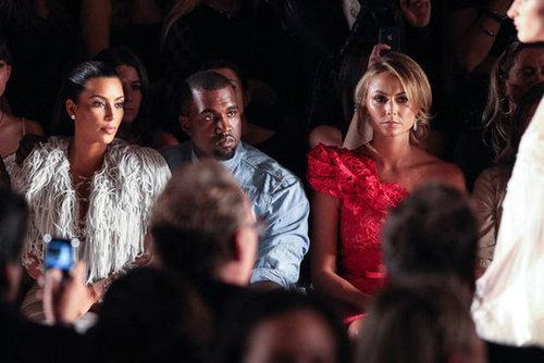 Stacy Keibler was seated next to Kanye West.