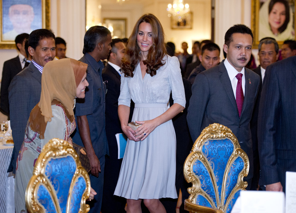 Kate Middleton prepared to make her first speech overseas.