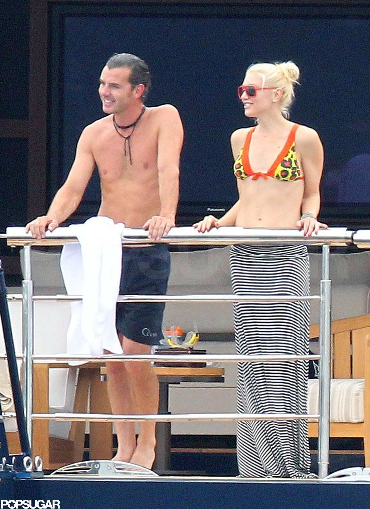 Shirtless Gavin Rossdale and bikini-clad Gwen Stefani were on a yacht near Cannes in May 2011.