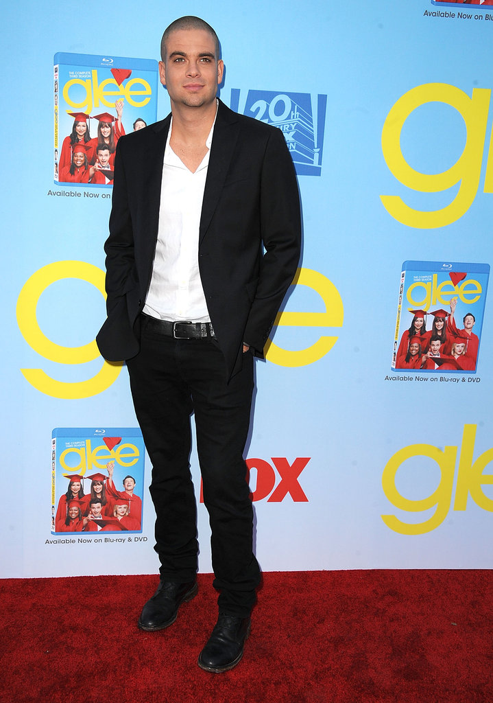 Mark Salling rocked a black suit.