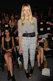 Jessica Hart mixed her prints like a pro in Whitney Eve's front row.