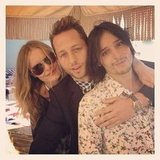 Kate Bosworth hung by the pool with Derek Blasberg and Olivier Theyskens. Source: Instagram user derekblasberg