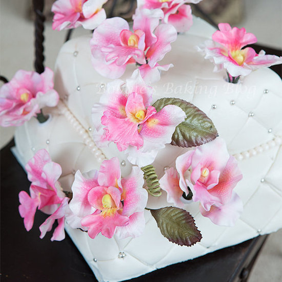 butterfly orchid cake