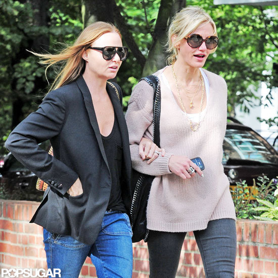 Cameron Diaz and Stella McCartney were arm in arm.