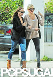 Cameron Diaz and Stella McCartney wore matching boots.