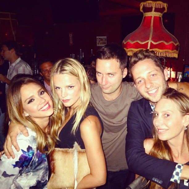 Jessica Alba hung out with Derek Blasberg and crew at the Proenza Schouler after-party. Source: Instagram user derekblasberg